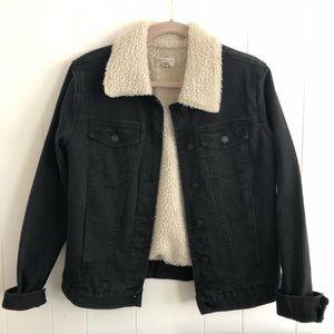 LIKE NEW Pacsun Denim Jacket with Fleece lining